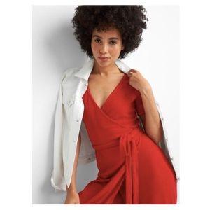 GAP | Short Sleeve Midi Wrap Dress | Large